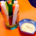 胡麻マヨネーズの彩色スティックサラダ